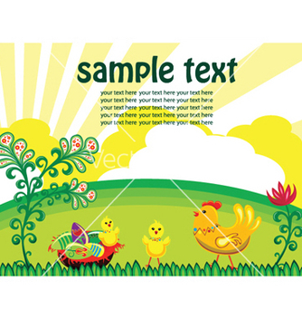 Free easter background with hen vector - Free vector #244875