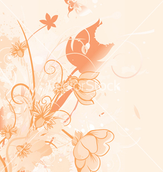 Free grunge background with floral vector - Kostenloses vector #244905