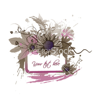 Free floral frame with splash vector - vector #244975 gratis