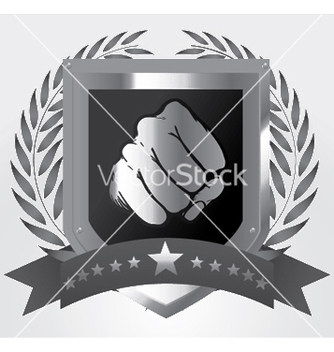 Free shield with fist vector - Free vector #244995