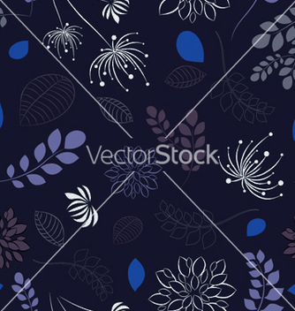 Free abstract seamless floral background vector - Kostenloses vector #245015