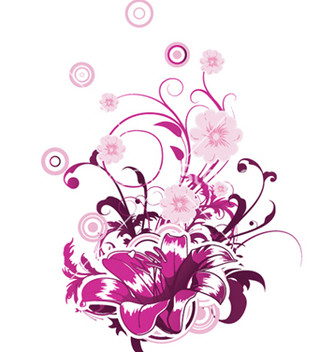 Free abstract flower with circles vector - vector #245055 gratis