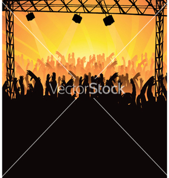 Free concert poster with crowd vector - бесплатный vector #245095