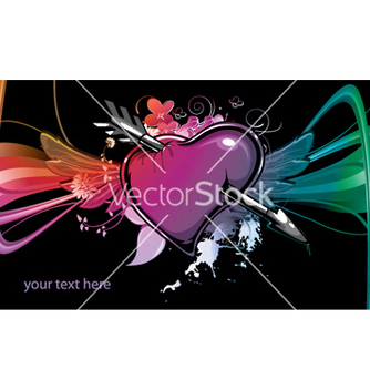 Free heart with wings vector - vector #245105 gratis