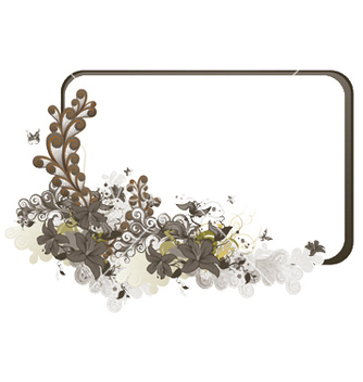 Free abstract floral frame vector - Free vector #245125