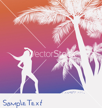 Free vintage summer background with palm trees vector - бесплатный vector #245175