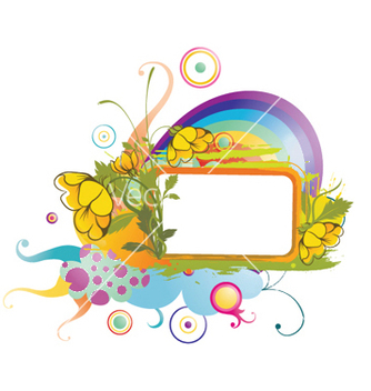 Free watercolor floral frame vector - бесплатный vector #245185
