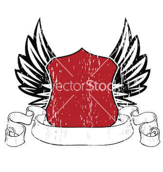 Free emblem with shield and wings vector - Kostenloses vector #245355