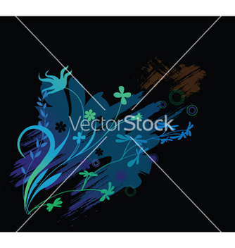 Free floral with splash vector - бесплатный vector #245395