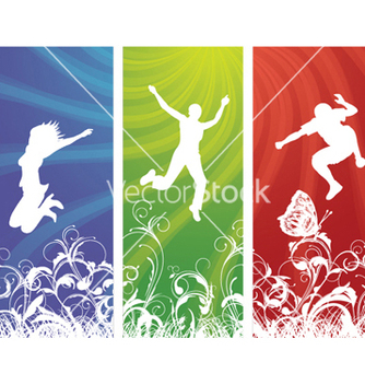 Free happy people vector - Free vector #245575