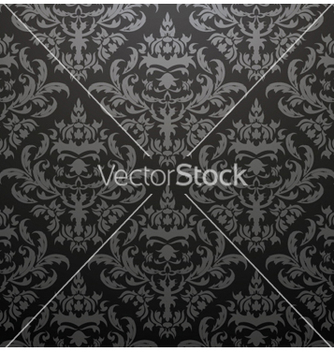 Free damask seamless pattern vector - vector gratuit #245635