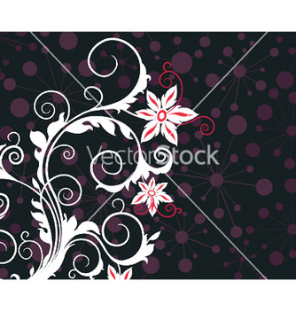 Free abstract floral background vector - Free vector #245665