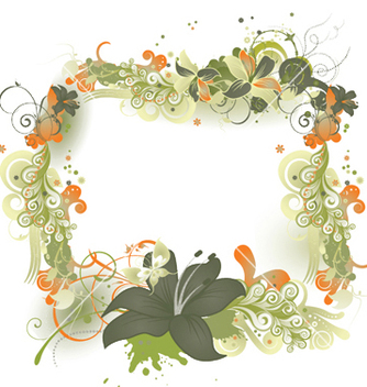 Free abstract floral frame vector - Kostenloses vector #245735
