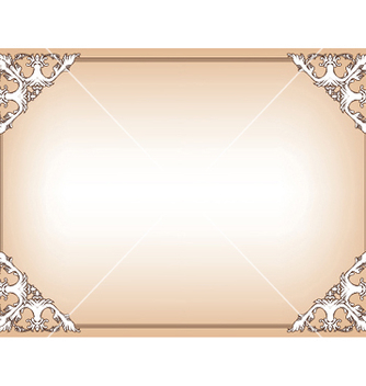 Free baroque floral frame vector - Free vector #245845