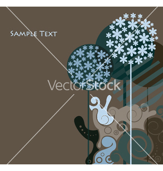 Free background with abstract trees vector - Free vector #245915