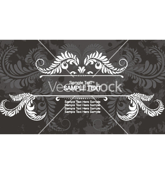 Free vintage floral frame with grunge background vector - vector gratuit #245935