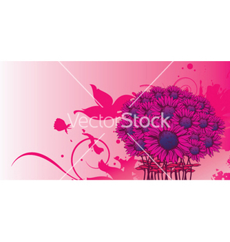 Free grunge background with floral vector - бесплатный vector #245975