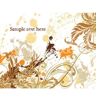 Free grunge floral background vector - vector gratuit #245985