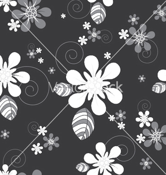 Free abstract seamless floral background vector - Kostenloses vector #246045