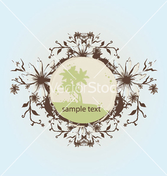 Free summer floral frame vector - Kostenloses vector #246065