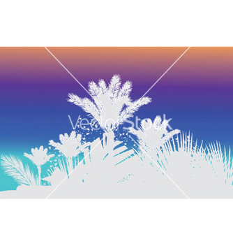 Free vintage summer background with palm trees vector - Free vector #246085