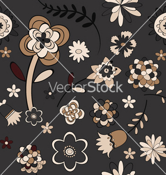 Free floral seamless pattern vector - Free vector #246115
