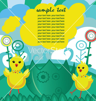 Free easter background with chickens vector - бесплатный vector #246125