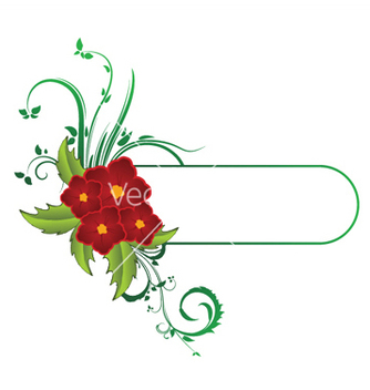 Free abstract floral frame vector - Free vector #246245
