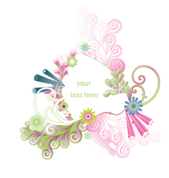 Free abstract floral frame vector - Free vector #246405