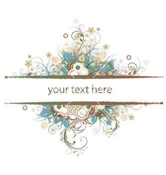 Free abstract floral frame vector - Free vector #246415