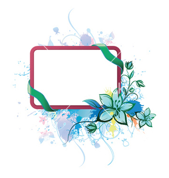 Free watercolor floral frame vector - Free vector #246475