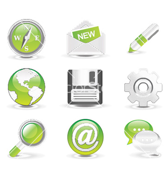 Free glossy icons set vector - бесплатный vector #246785