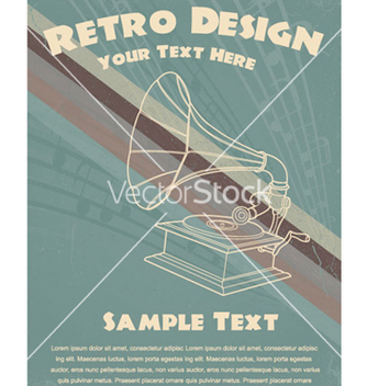 Free retro music poster vector - бесплатный vector #247035