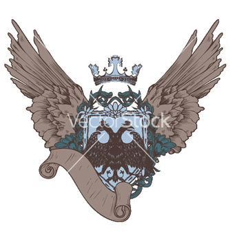 Free vintage crest with scroll vector - бесплатный vector #247055