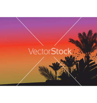 Free summer background with palm trees vector - бесплатный vector #247115