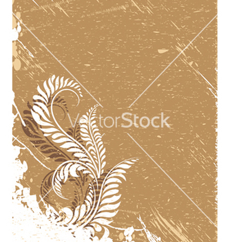 Free grunge floral background vector - бесплатный vector #247145