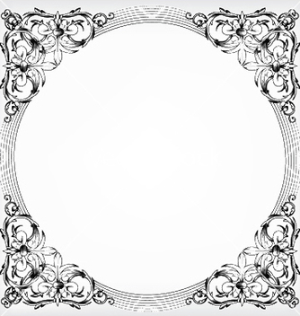 Free baroque floral frame vector - Free vector #247225