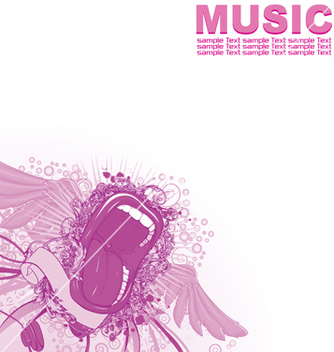 Free music poster vector - Free vector #247465