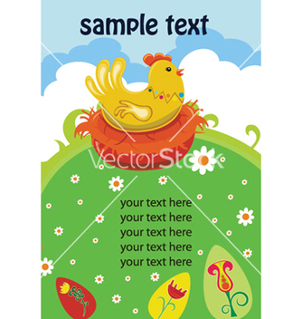 Free easter background with hen vector - Kostenloses vector #247475