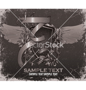 Free vintage emblem with shield vector - Kostenloses vector #247485