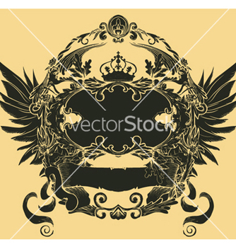 Free vintage floral frame with scroll vector - Free vector #247495