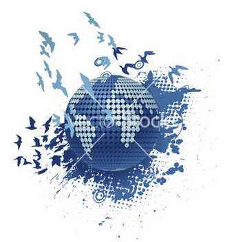 Free globe with grunge vector - vector #247575 gratis