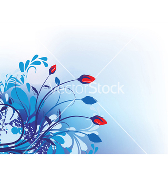 Free grunge floral background vector - Kostenloses vector #247665