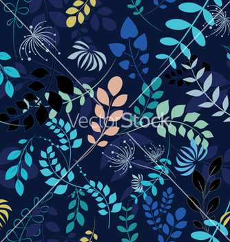 Free abstract seamless floral background vector - Free vector #247995