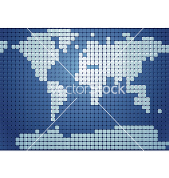 Free dotted world map vector - бесплатный vector #248135