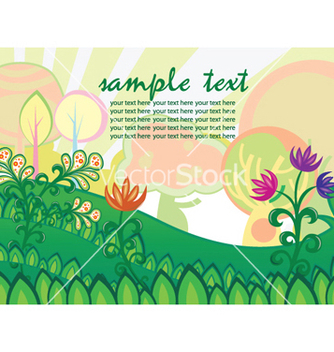 Free easter background with trees vector - vector #248145 gratis
