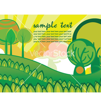 Free easter background with trees vector - vector gratuit #248355