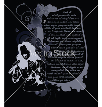 Free music background with singer vector - Free vector #248665