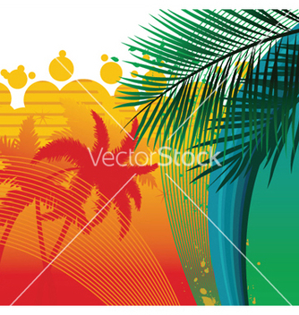 Free summer background with palm trees vector - Free vector #248855