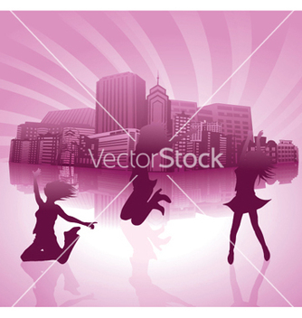Free urban background vector - Free vector #249065